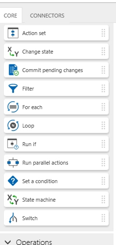 Logic and flow workflow actions.
